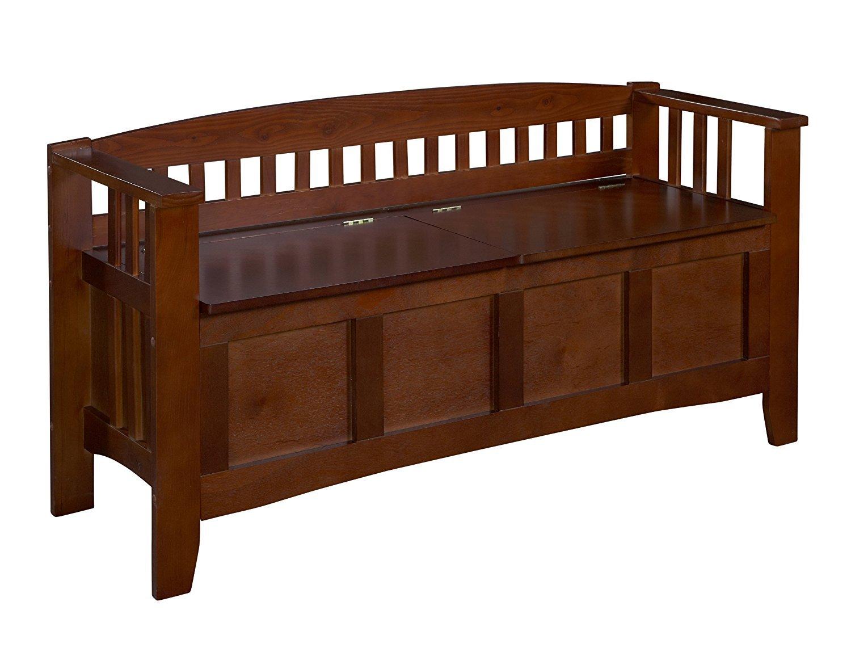 Wooden Storage Bench Seat