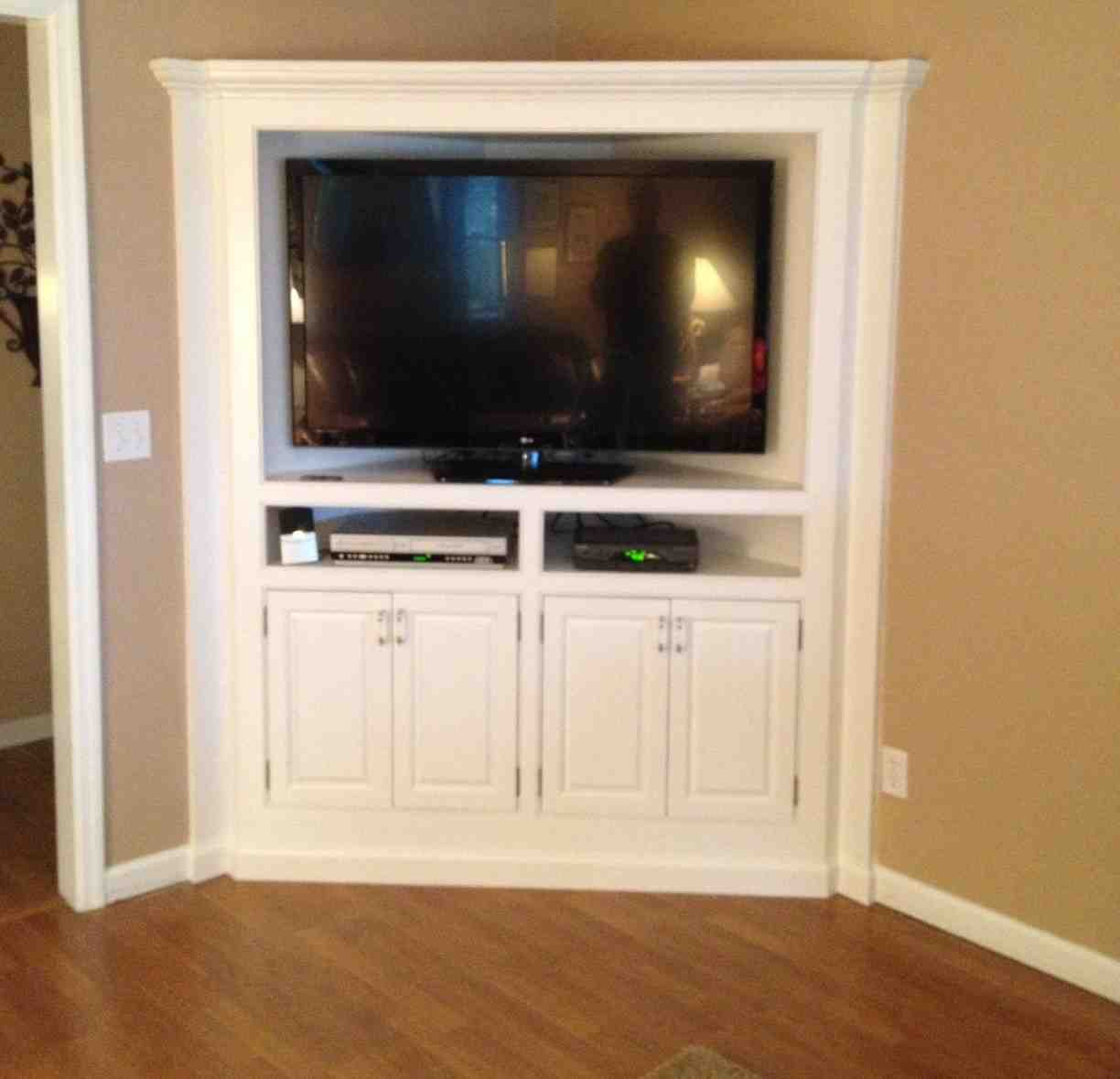 Corner TV Armoire  Home Furniture Design