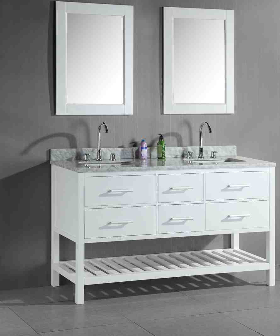 Double Sink Bathroom Vanity Cabinets
