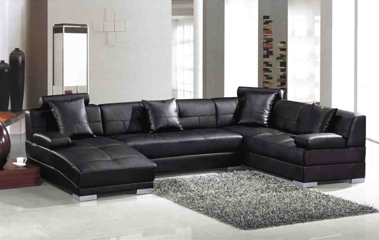 L Shaped Leather Sofa  Home Furniture Design