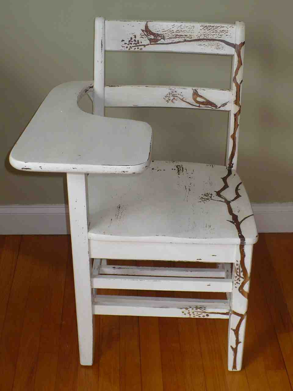 Old School Chairs. Painted School Desk Chair