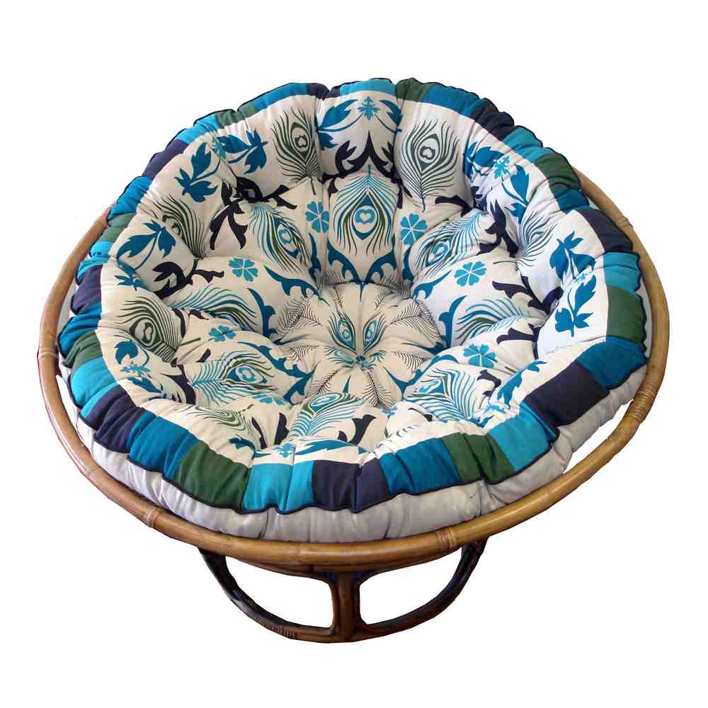 replacement papasan chair cushion purple velvet and a half cover - home furniture design