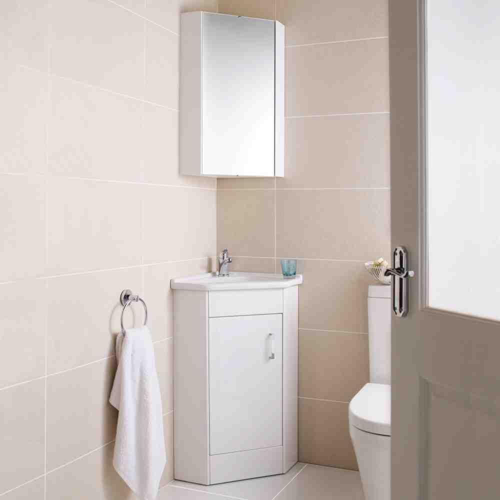medium resolution of white corner linen cabinet