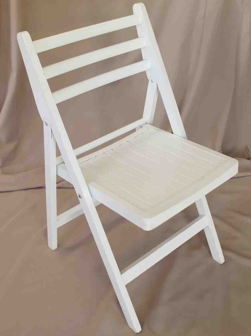 White Wooden Folding Chairs  Home Furniture Design