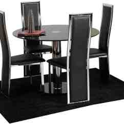 Set Of Dining Chairs Chair Rentals Atlanta Black 4 Home Furniture Design