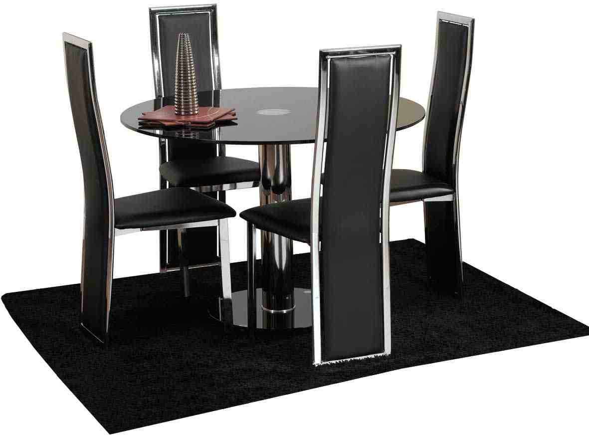 dining chair sets of 4 pedicure and manicure chairs black set home furniture design