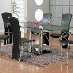 Black Dining Sets With 6 Chairs Antique Living Room Chair Styles Home Furniture Design