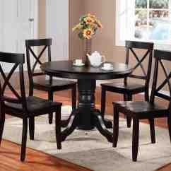 Black Dining Table And Chairs Nursery Chair Grey White Round Home Furniture Design