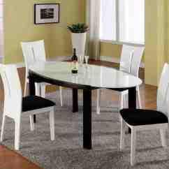 Black Dining Table And Chairs Folding Director Aluminum White Home Furniture