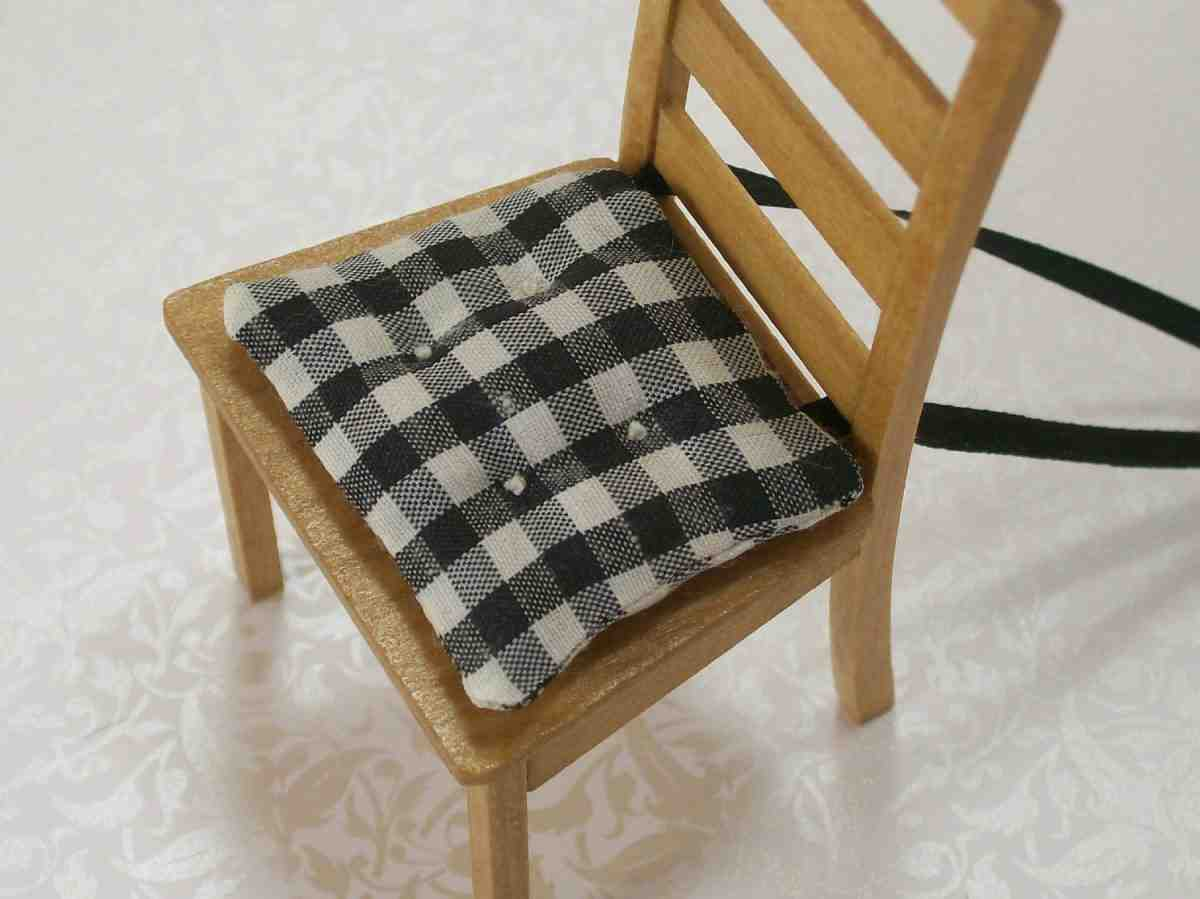 Black and White Kitchen Chair Cushions  Home Furniture Design