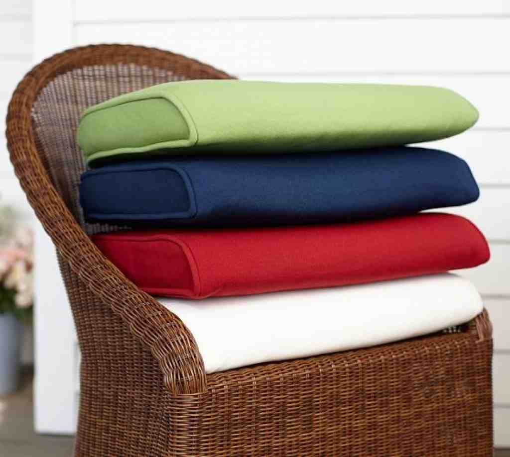 wicker chair seat cushion covers blue folding outdoor furniture patio