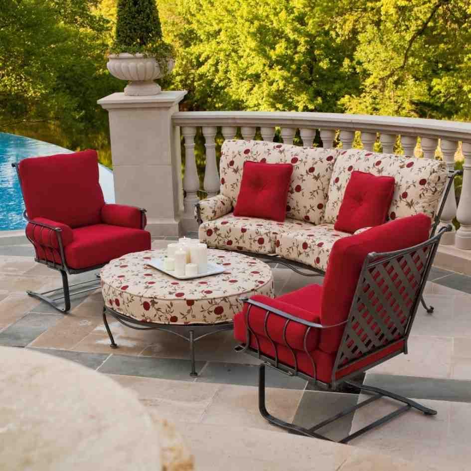 29 Creative Patio Furniture Red Cushions  pixelmaricom