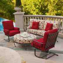 Creative Patio Furniture Red Cushions