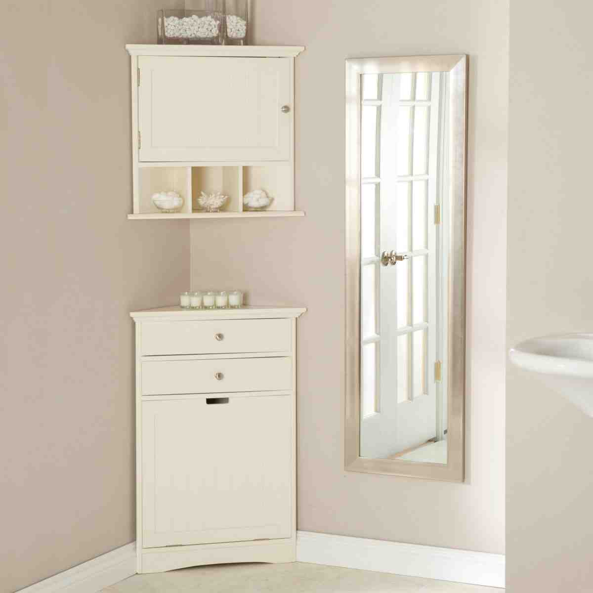 Bathroom Corner Cabinets With Mirror