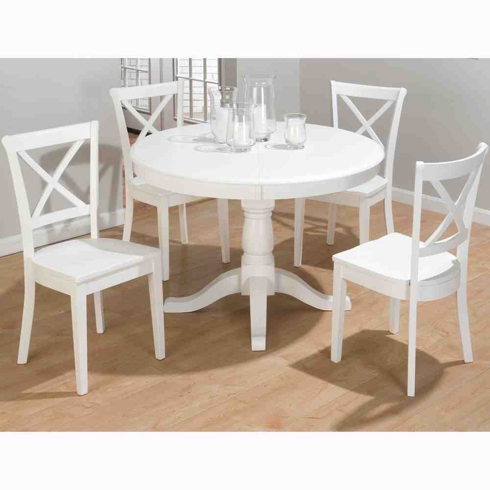 White Round Dining Table and Chairs  Home Furniture Design