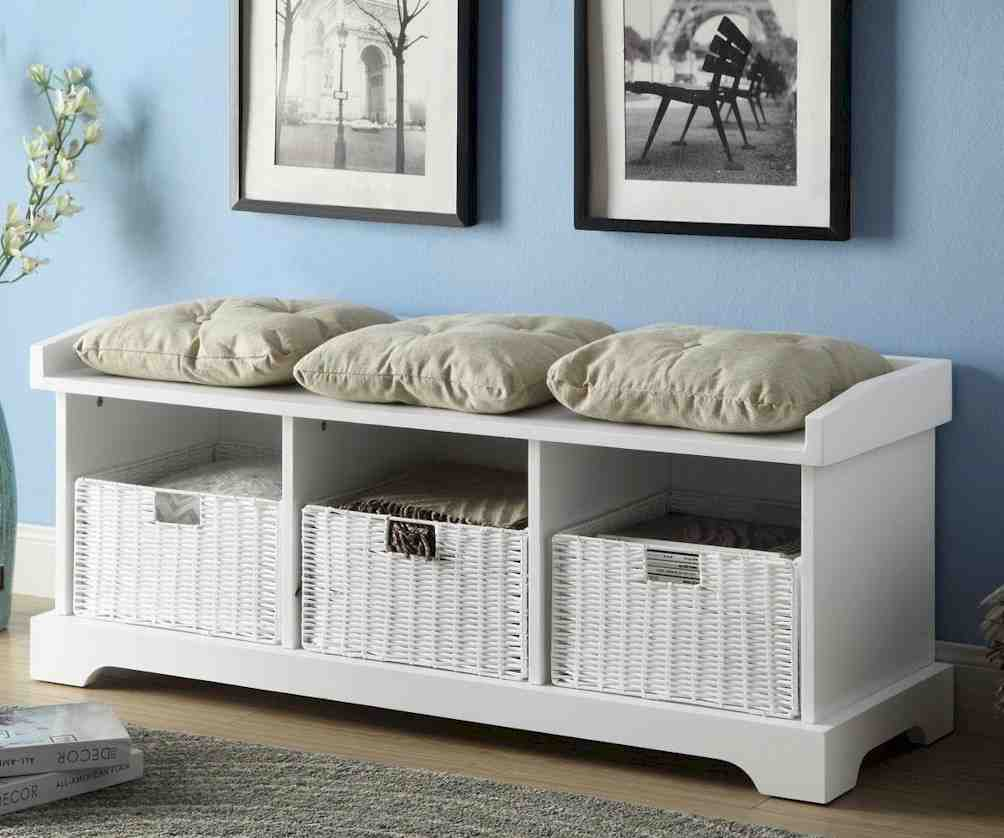 Storage Bench With Cushion for Comfort and Utility  Home Furniture Design