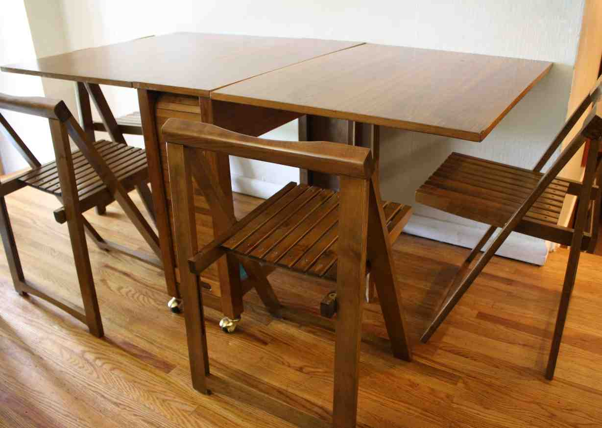 folding dining table with chair storage hanging kmart home furniture design