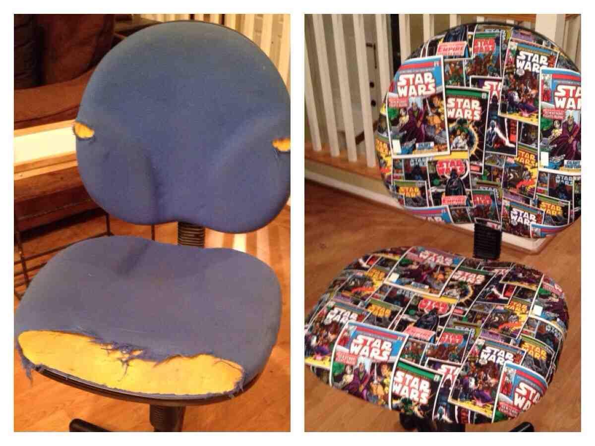 reupholster office chair back playseat desk home furniture design