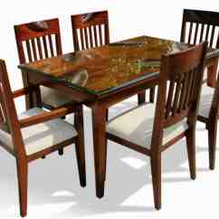 Dining Table Set 6 Chairs Chair Design For Cafe Six Home Furniture