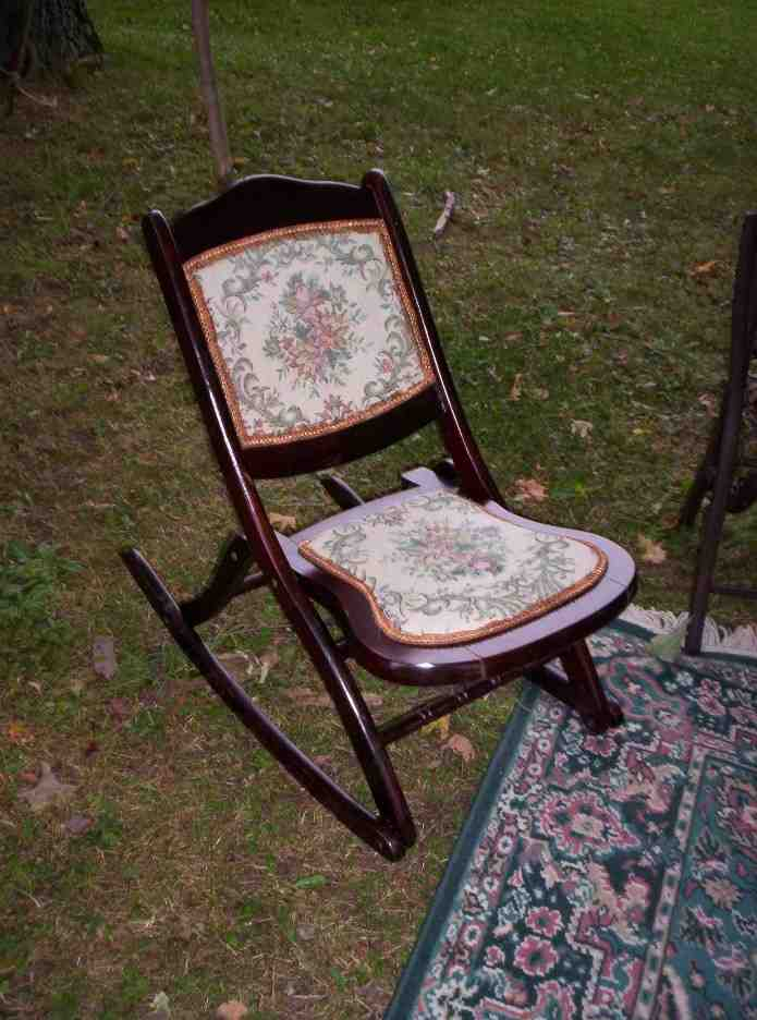 Vintage Folding Rocking Chair  Home Furniture Design
