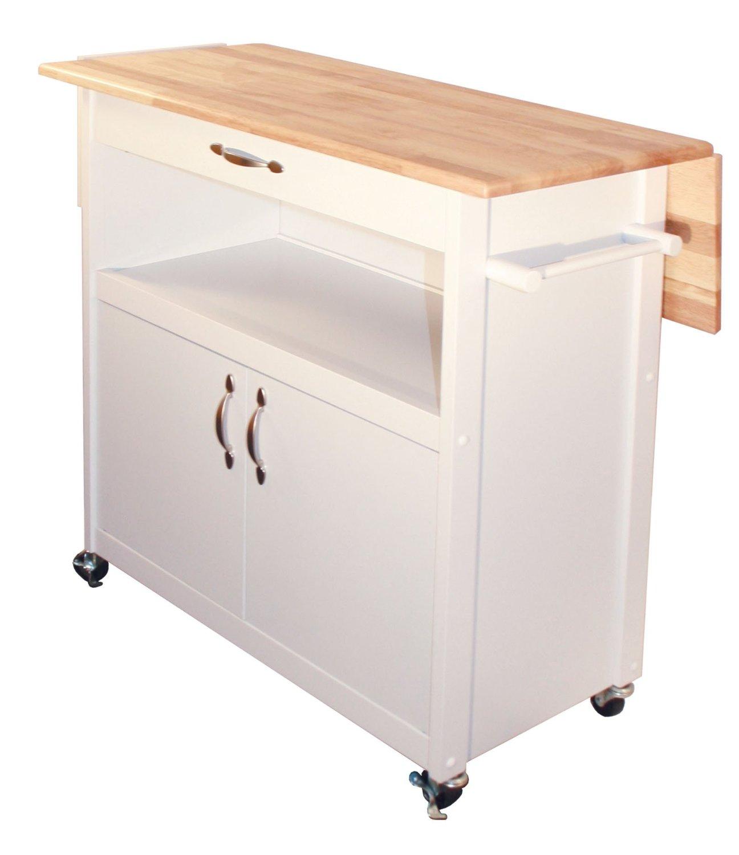 portable kitchen island with drop leaf nija catskill craftsmen utility cart home furniture