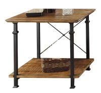 Wood And Metal End Tables