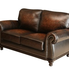 Abbyson Leather Sofa Oval Gl Table Barclay Hand Rubbed Loveseat Home