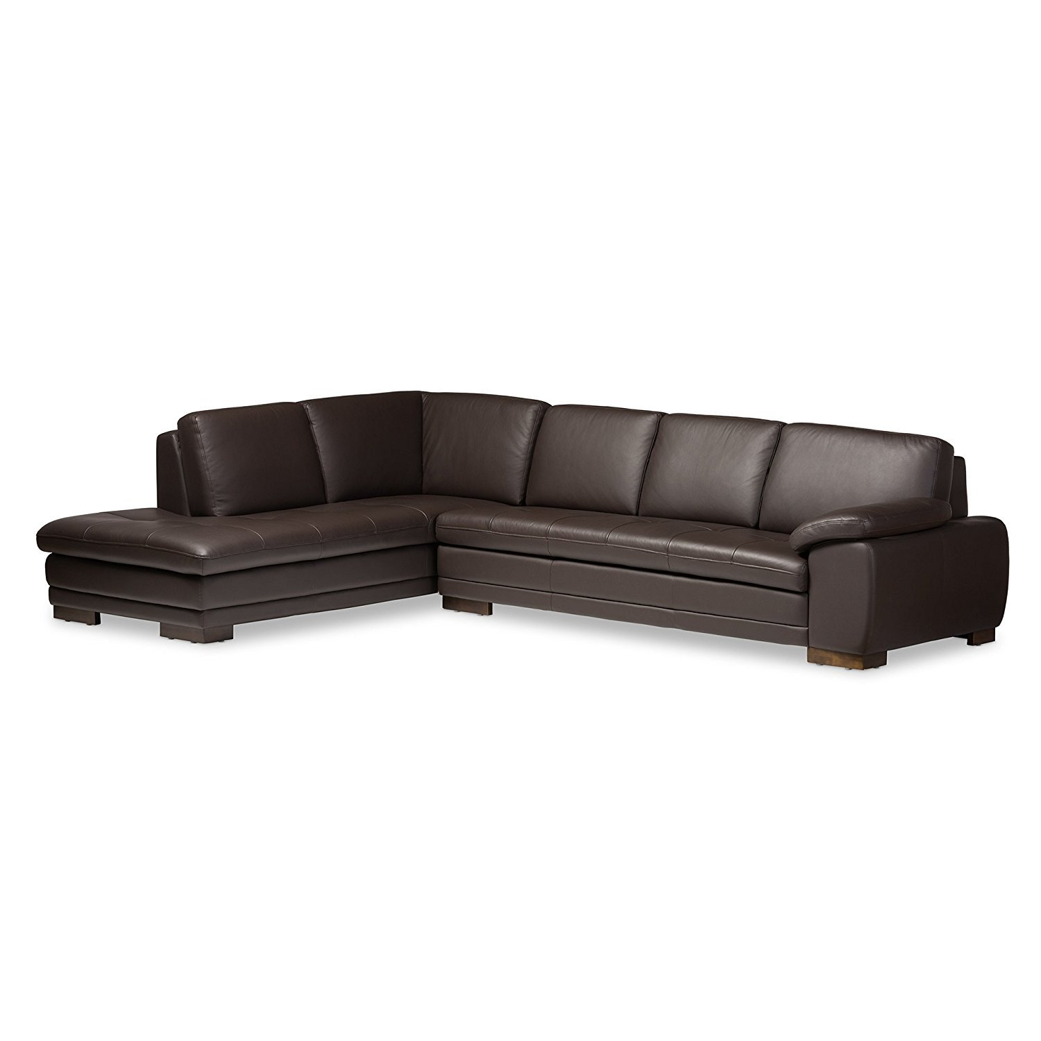 2 piece brown leather sofa beautiful sets online baxton studio abriana dark