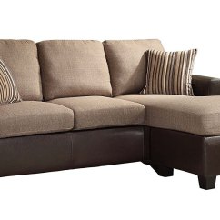 Reversible Sectional Sofas With Chaise Cream Leather Corner Sofa Dfs Homelegance 8401 3sc Home