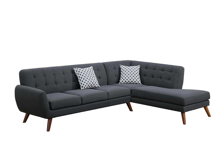 poundex bobkona arcadia sofa and loveseat set crate barrel lounge reviews belinda linen like polyfabric sectional