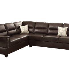 Poundex Bobkona Arcadia Sofa And Loveseat Set Ektorp Cushion Replacement F7859 Parrish Bonded Leather Left Home
