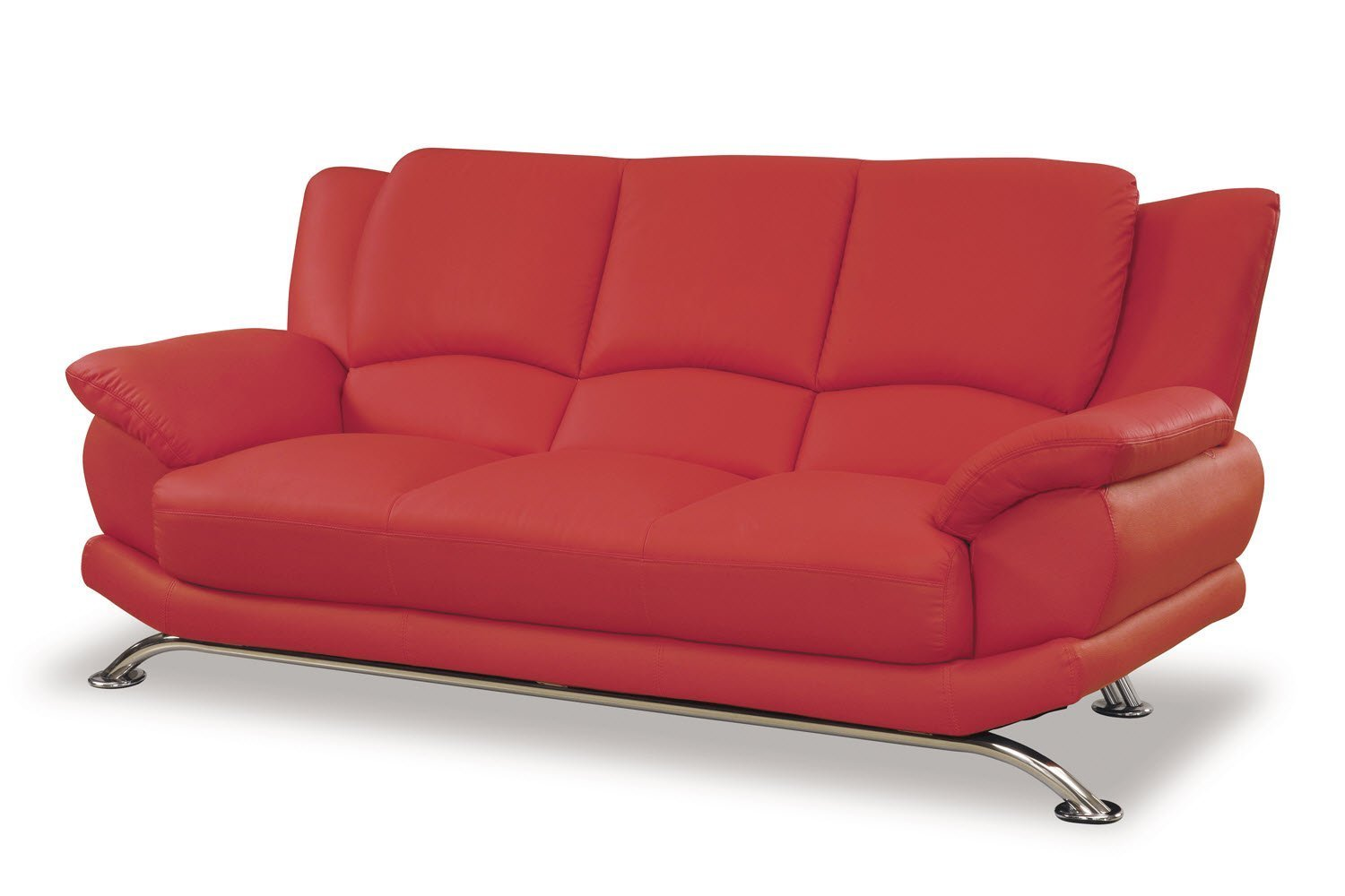 baxton studio dobson leather modern sectional sofa into bed red couch home furniture design