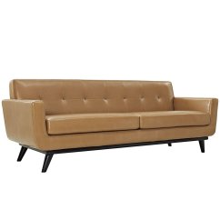 Tan Leather Sofa Decor Red Sofas And Chairs Couch Home Furniture Design