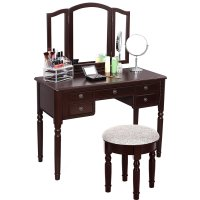 Vintage Vanity Table With Mirror And Bench - Home ...