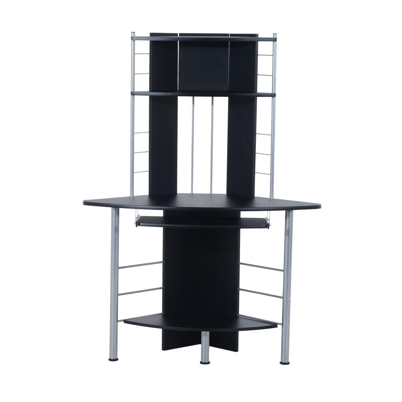 Black Corner Desk With Hutch  Home Furniture Design