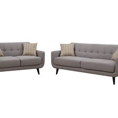 Almafi 2 Piece Leather Sofa Set And Love Seat Best Cleaner For White Christies Home Living Crystal Gray