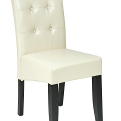 Cream Leather Accent Chairs Chair Covers For The Classroom Osp Designs Met88cm Bonded Parsons