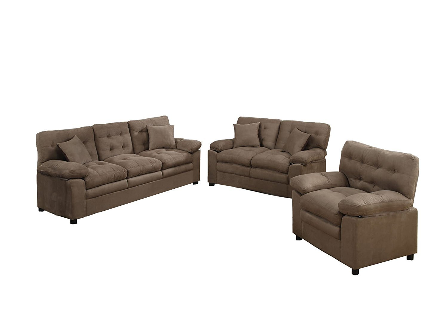 sofa and loveseat set up crescent john lewis poundex bobkona colona mircosuede 3 piece