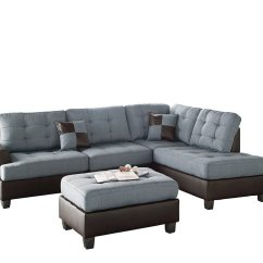 Bobkona Sofa Set How High Should A Console Table Be Poundex Matthew Chaise Sectional Home
