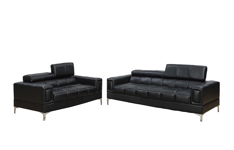 poundex bobkona arcadia sofa and loveseat set reclining sofas cheap sierra bonded 2 piece