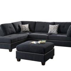 Poundex Bobkona Arcadia Sofa And Loveseat Set Combo Viola Linen Like Polyfabric Sectional