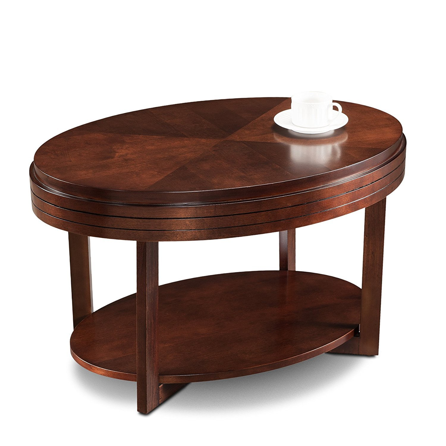 Oval Coffee Table With Storage Home Furniture Design