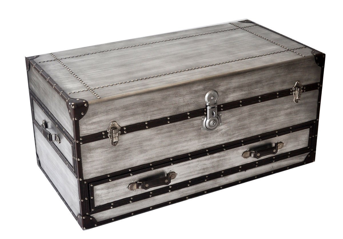 silver trunk coffee table  Home Furniture Design