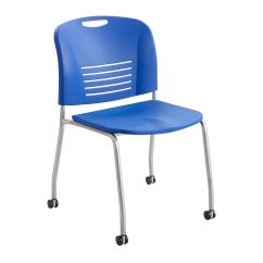 Folding Chair With Wheels Dining Room Side Chairs Safco Products 4291la Vy Straight Leg Stack