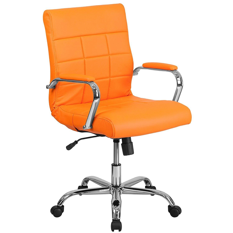 ofm posture task chair rental columbia sc flash furniture mid back orange vinyl executive swivel