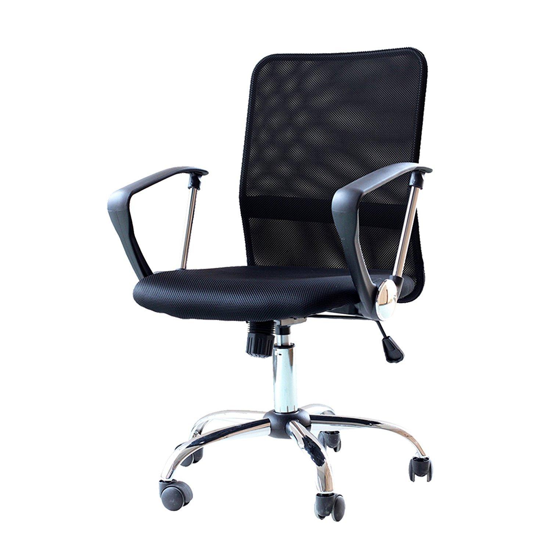 brenton studio task chair power wheel ids home ergonomic adjustable mesh mid back office