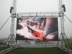 video wall outdoor structure
