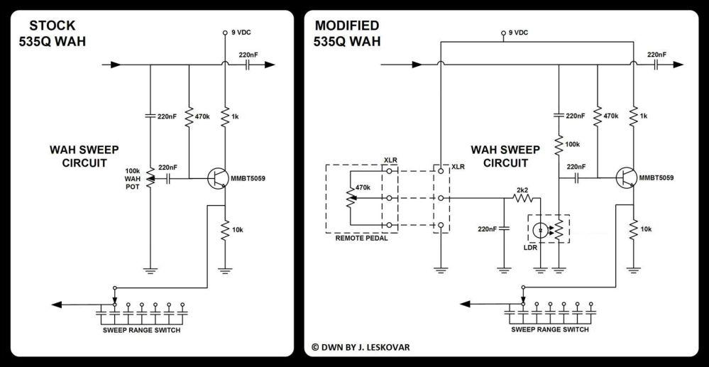 Wiring Diagram Wah Pedal Mod - remote rack wah trabantland