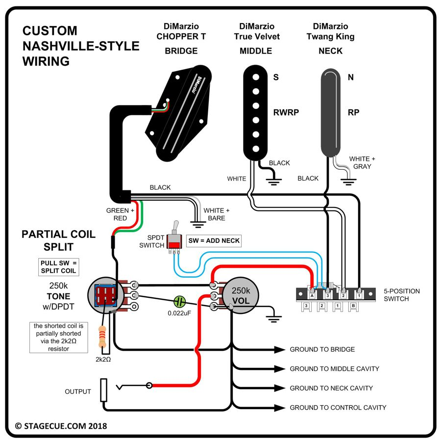 medium resolution of coil split or coil tap on a tremolo guitar the gear page thread n00b coil split wiring question