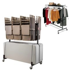 Folding Chair Storage Rack Bonded Leather Chairs National Public Seating Combination Table